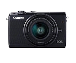 Canon EOS M100 with EF-M 15 - 45 mm lens - Black