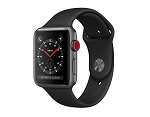 Apple Watch 3 GPS + Cellular 42mm Space Gray Aluminium Case with Black Sport Band