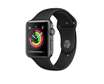 Apple Watch 3 GPS 42mm Space Grey Aluminium Case with Black Sport Band