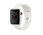 Apple Watch 3 GPS + Cellular 38mm Silver Aluminium Case with White Sport Band