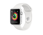Apple Watch 3 GPS 42mm Silver Aluminium Case with White Sport Band