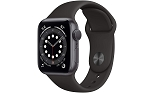 Apple Watch 6 GPS 40mm Space Grey Aluminium Case with Black Sport Band