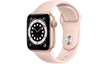 Apple Watch 6 GPS 40mm Gold Aluminium Case with Pink Sand Sport Band