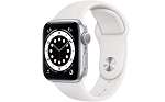 Apple Watch 6 GPS 40mm Silver Aluminium Case with White Sport Band