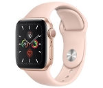Apple Watch 5 GPS 40mm Gold Aluminium Case with Pink Sand Sport Band (MWV72)