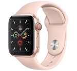 Apple Watch 5 GPS + Cellular 40mm Gold Aluminium Case with Pink Sand Sport Band (MWWP2)