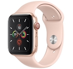 Apple Watch 5 GPS + Cellular 44mm Gold Aluminium Case with Pink Sand Sport Band (MWW02)
