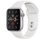 Apple Watch 5 GPS 40mm Silver Aluminium Case with White Sport Band (MWV62)