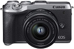 Canon EOS M6 Mark II with EF-M 15-45mm f/3.5-6.3 IS STM - Silver