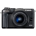 Canon EOS M6 Digital Camera with 15-45mm Lens - Black