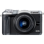 Canon EOS M6 Digital Camera with 15-45mm Lens - Silver