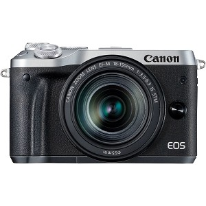 Canon EOS M6 Digital Camera with 18-150mm Lens - Silver