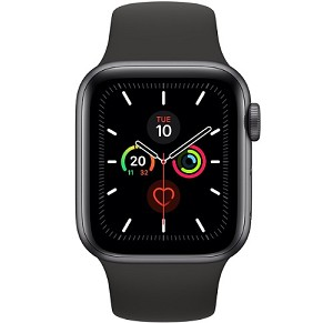 Apple Watch 5 GPS 44mm Space Gray Aluminium Case with Black Sport Band (MWVF2)