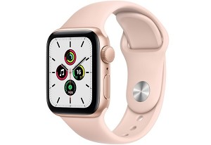 Apple Watch SE GPS 40mm Gold Aluminium Case with Pink Sand Sport Band