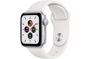 Apple Watch SE GPS 40mm Silver Aluminium Case with White Sport Band