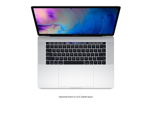 Apple MacBook Pro with Touch Bar 15-inch (2018) 2.6GHz 16GB RAM 512GB - Silver