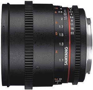 Samyang 85mm T1.5 AS IF UMC II VDSLR Lens - Nikon Fit