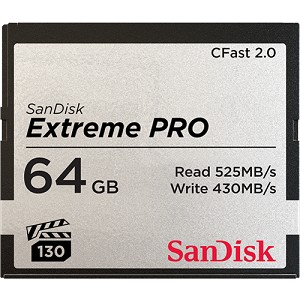 SanDisk Extreme Pro CFast 2.0 Memory Card - 64GB