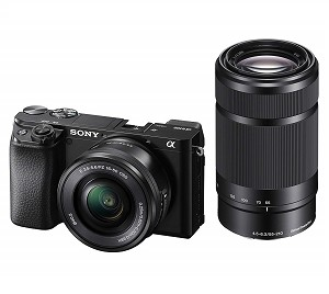Sony A6100 - Black with 16-50mm + 55-210mm Lens