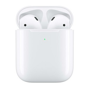 Apple AirPods (2019) with Wireless Charging case - White